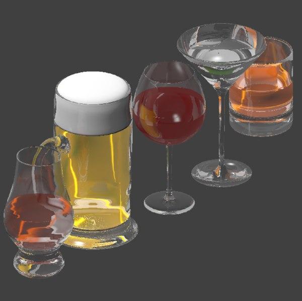 alcoholic drinks unity obj