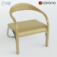 3d fettuccini chair single