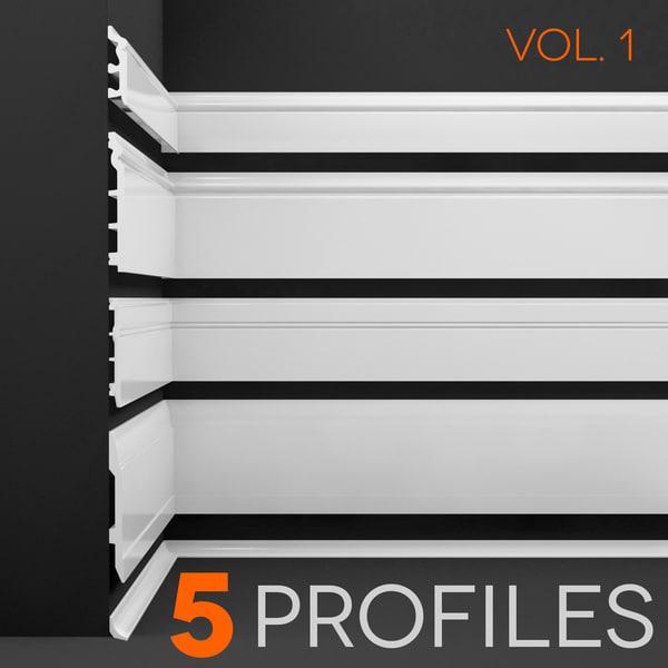 3d floor profiles 1 model