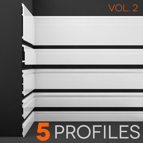 floor profiles 3d model