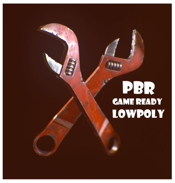 wrench pbr 3d fbx