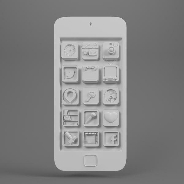 icon 3d model