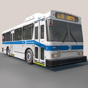 3d model city bus interior parts