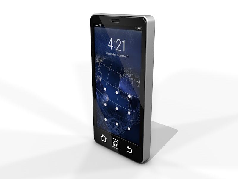 3d model generic smart phone