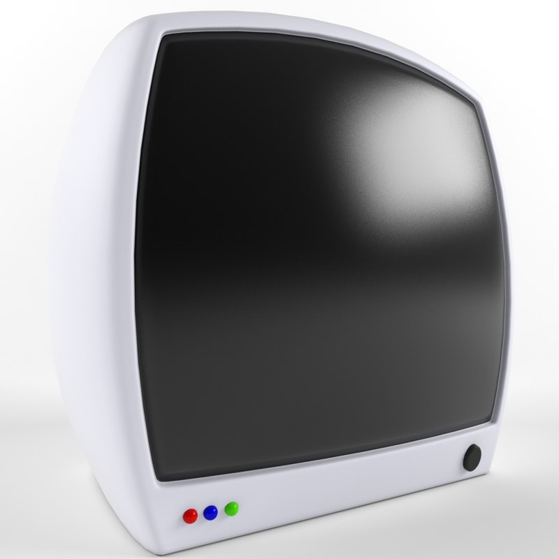 3d cartoon monitor model