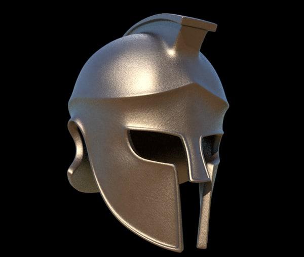 greek helmet corinthian c4d