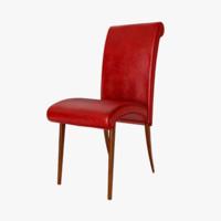 modeled chair 3d lwo