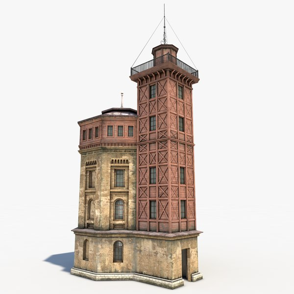 3d model old water tower