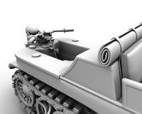 3d model nsu kettenkrad hk101 1944