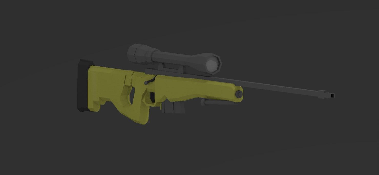 l96a1 bolt action rifle 3d model