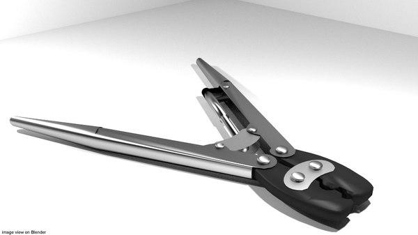 3d tool handtools crimp model