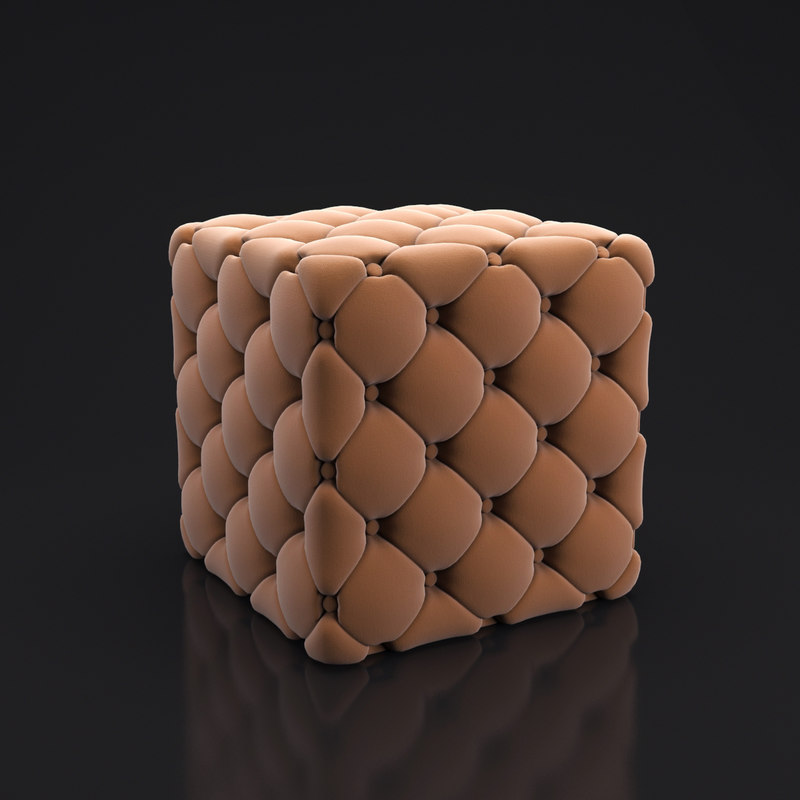 quilted pouf 3d model