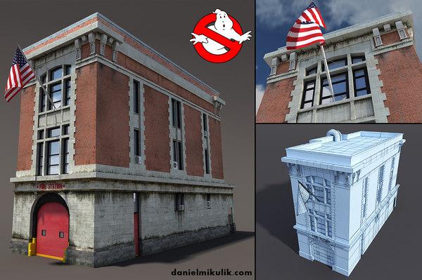 station building 3d model