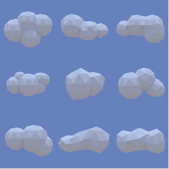 clouds pack 3d model