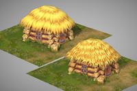 3d model small peasant hut