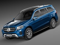 mercedes-benz 2017 gls 3d model