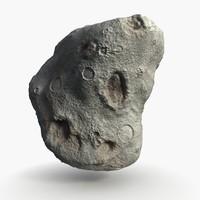 asteroid meteor meteorite 3d model