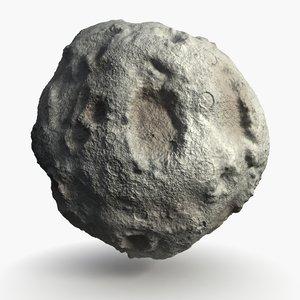 3d model of asteroid comet meteor
