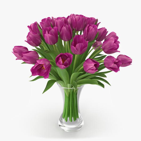 3d max tulip vase