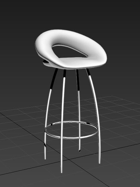 chair stool 3d dxf