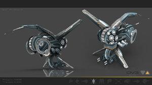 recon fighter 3d max
