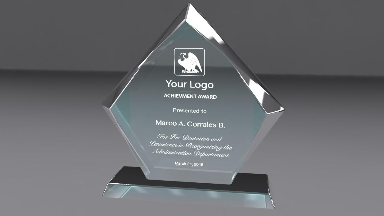 3d award glass