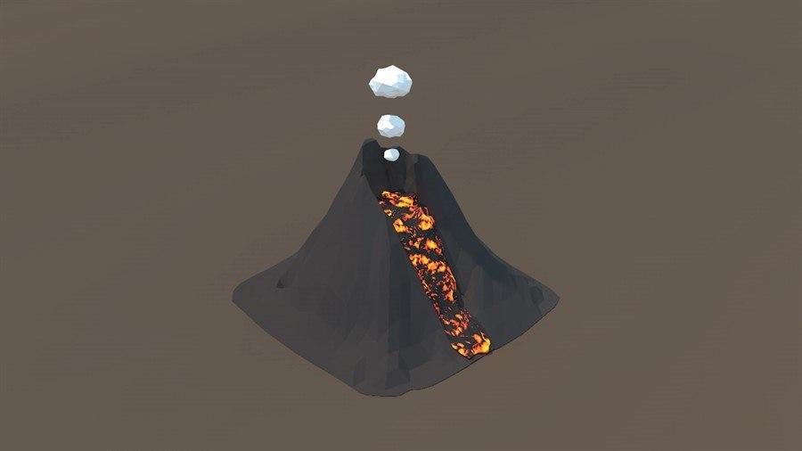 volcano c4d