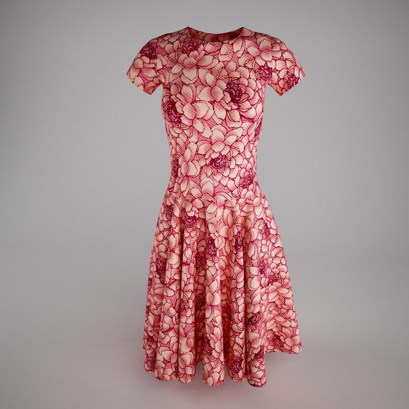 3d model dress women