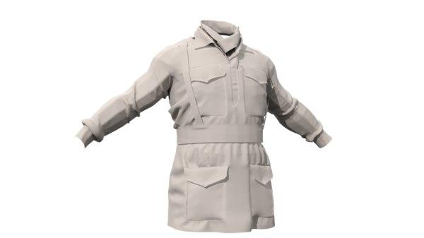 3d british jacket