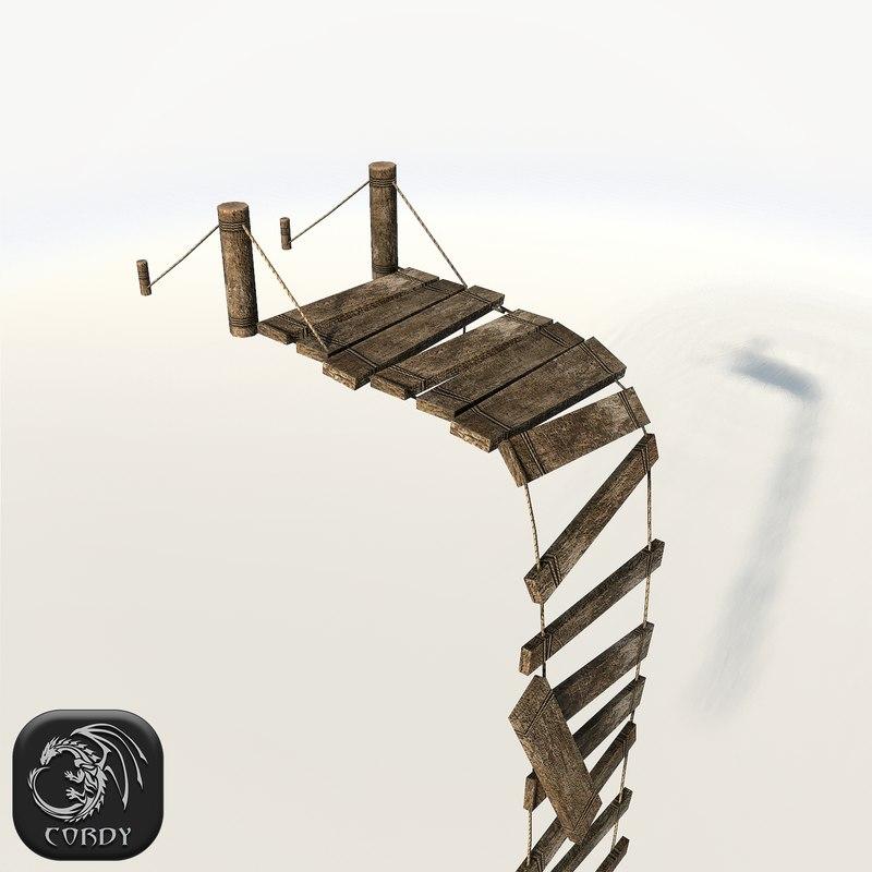 realistic broken bridge max