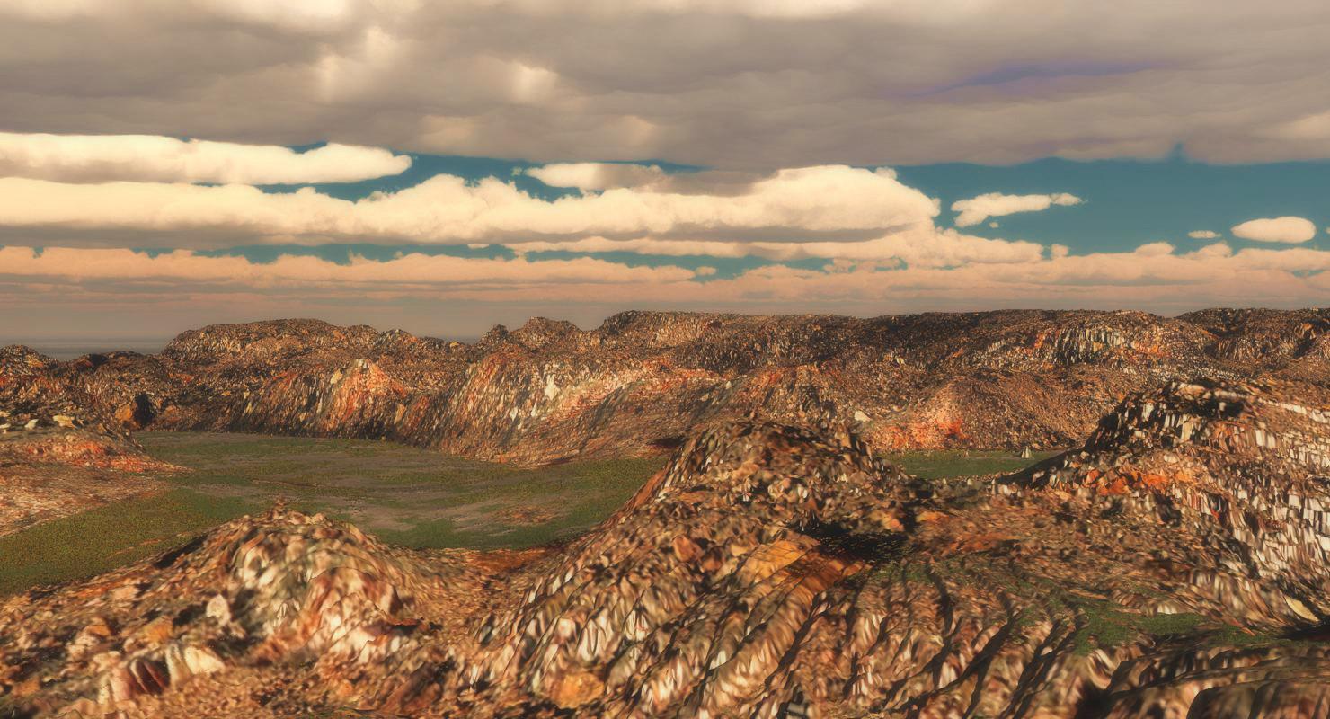 terrain landscape 3d 3ds