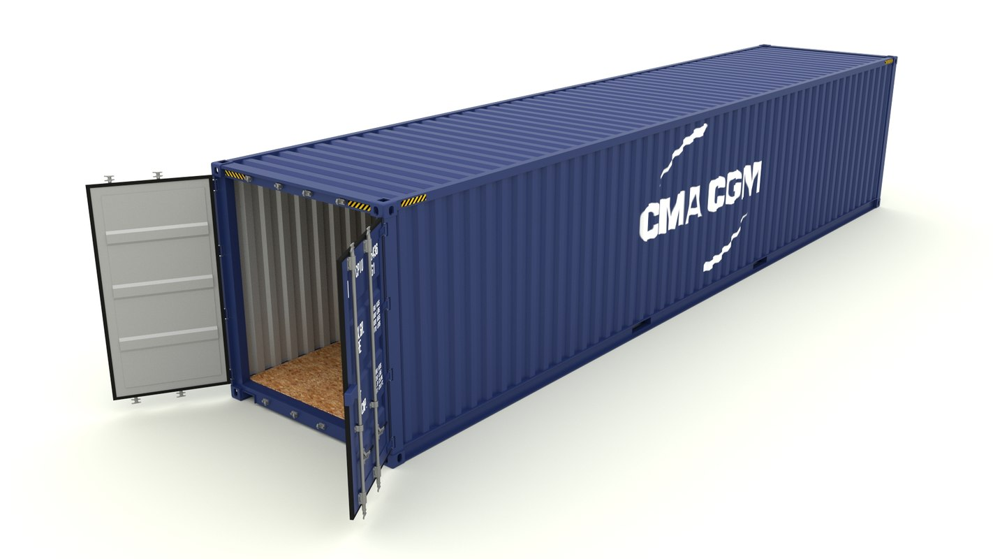 shipping container 3d obj