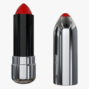 lipstick lips 3d obj