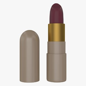 3d model lipstick lips