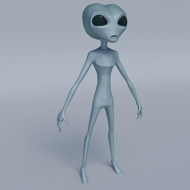 alien character 3d obj