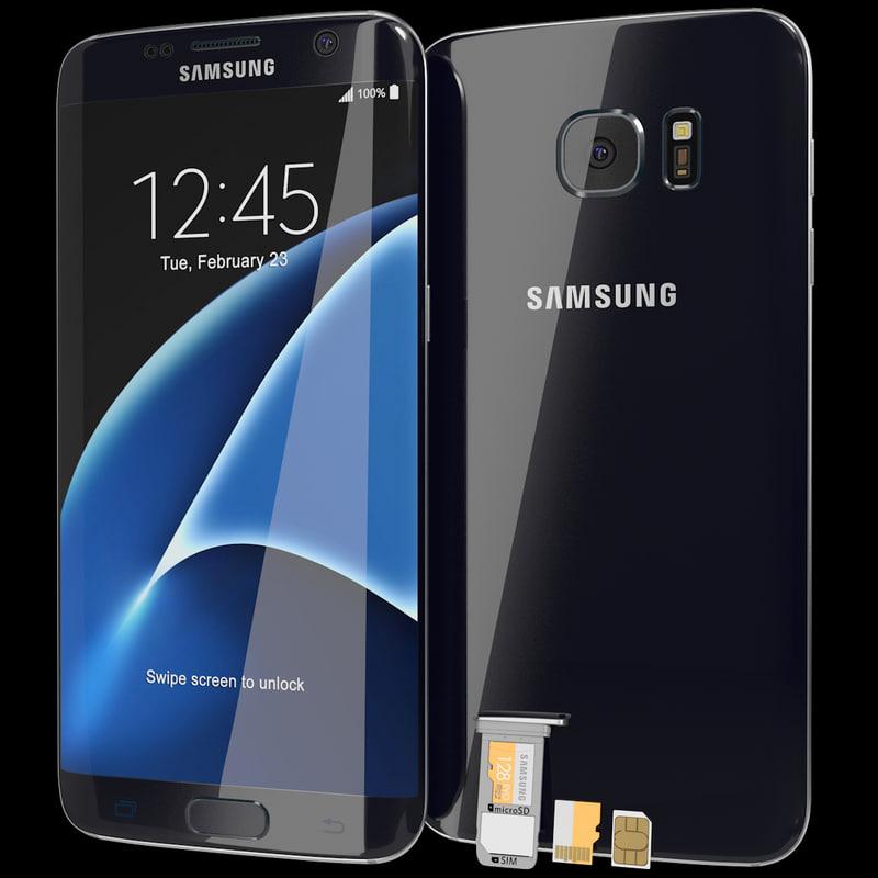 realistic samsung galaxy s7 3d model