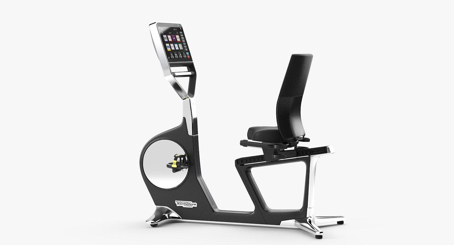 technogym bike recline 3d max