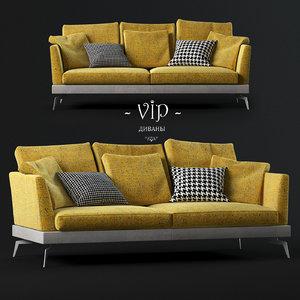 3d sofa skyline modern model