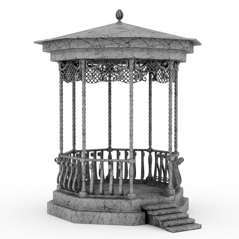 summerhouse summer house 3d model