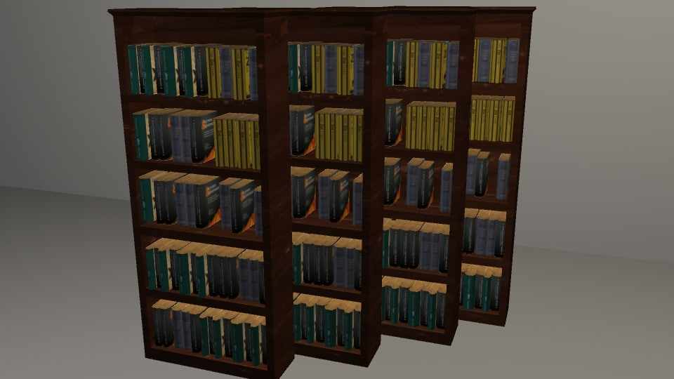bookcase books 3d model