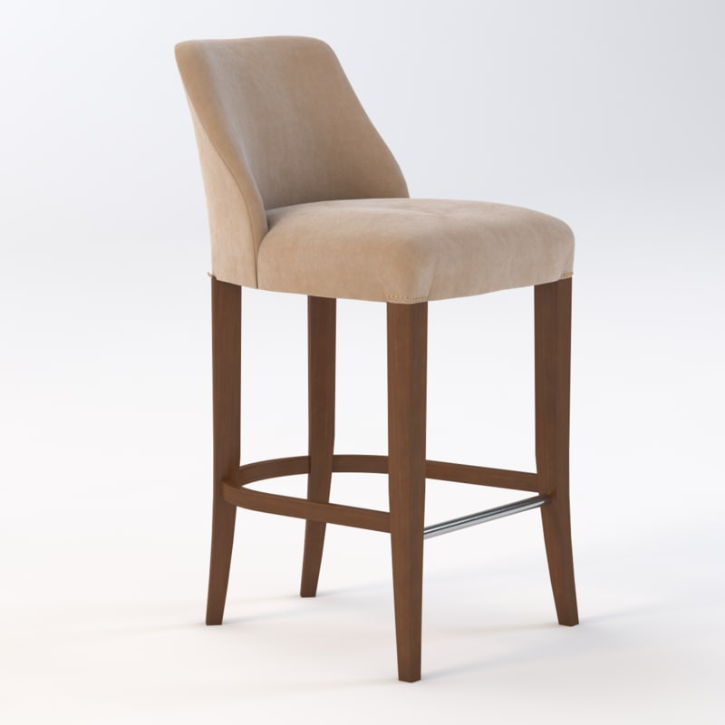 3d 3ds maria counter stool