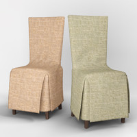 3d model of v-ray chair cover