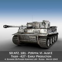 sd panzerkampfwagen vi - 3d 3ds