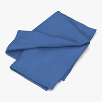 Folded Blue Towel