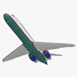 3d model boeing 717 200 airtran