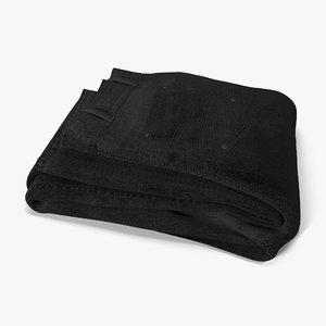 3d jeans folded black