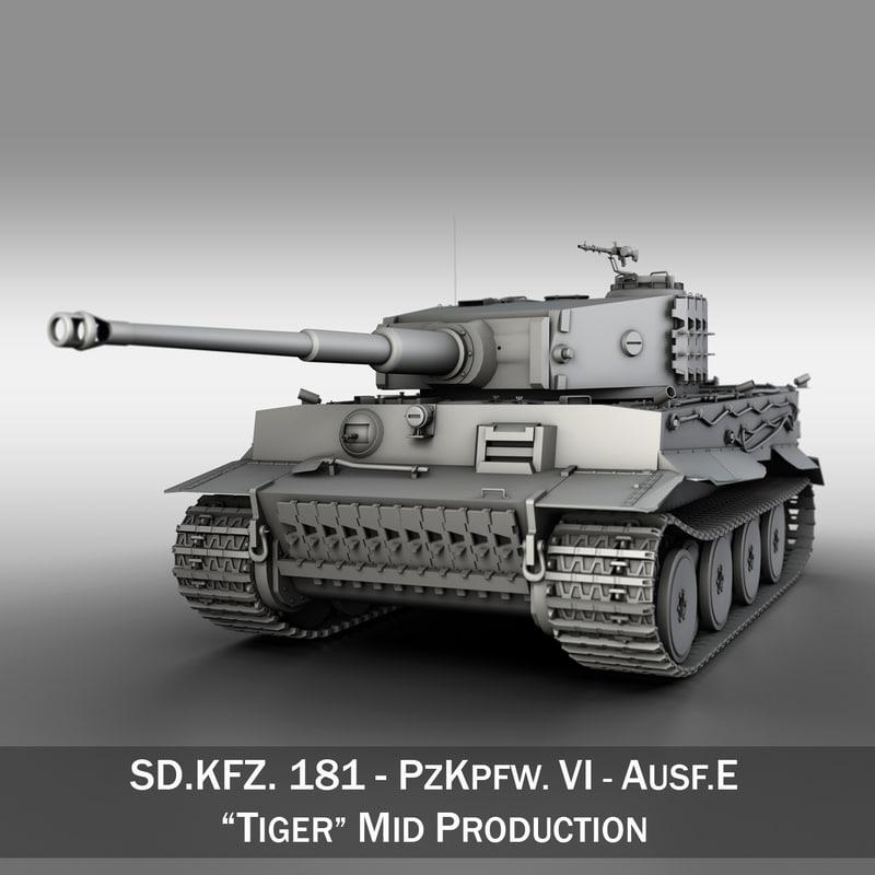 3d model sd - tiger production