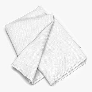 3d white towel 6