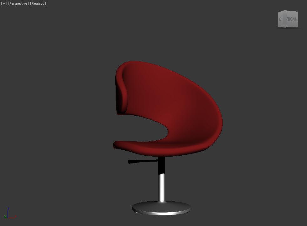 3d model chair c