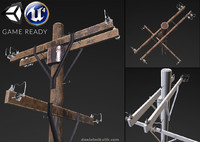 electric pole - pbr 3d obj